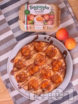 Лесен пролетен сладкиш с пресни кайсии, яйца и бакпулвер - снимка на рецептата